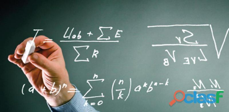 Clases a domicilio de matemática , física y química
