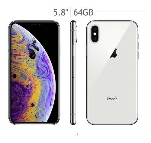 Iphone xs 64gb plata nuevo original año garantía tiend