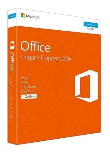 Office 2016 Hogar Y Empresas Fisico Sellado