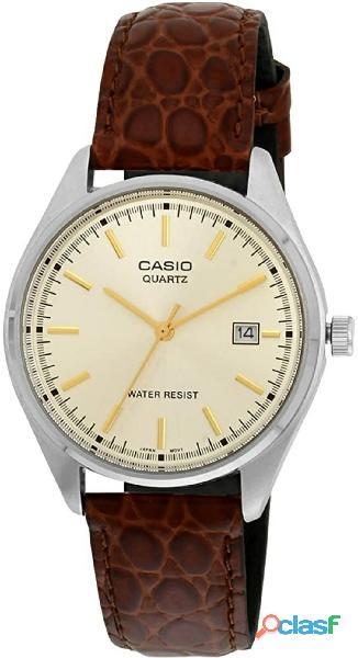 CASIO Reloj con Correa de Cuero MTP 1175E 9A