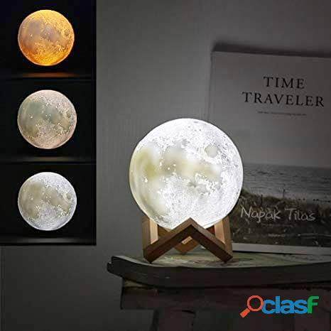 Lampara de luna con luz led