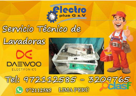 Servicio nuevo, servicio tecnico de lavadoras daewoo, 972112585,