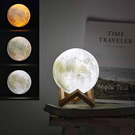 Lampara de luna con luz led en lima