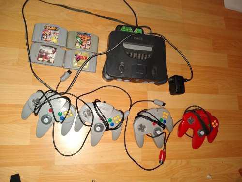 Nintendo 64 + 3juegos + 3 mandos (8/10) + cables + transfor