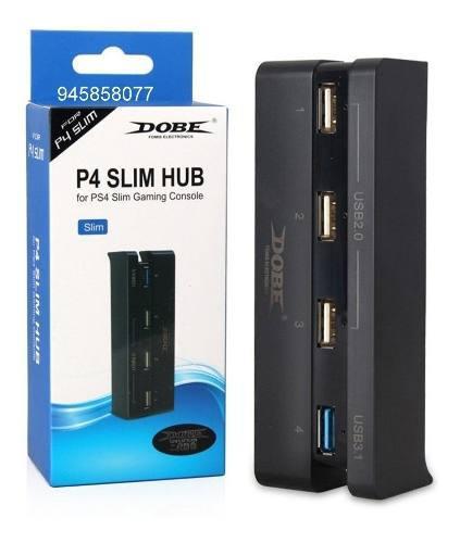 Adaptador usb hub 4 puertos para ps4 slim 3x2.0 y 1x3.1
