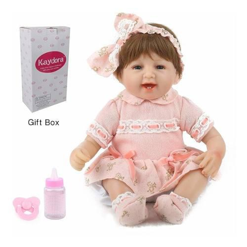 Muñeca reborn bebe kaydora realista 40 cms