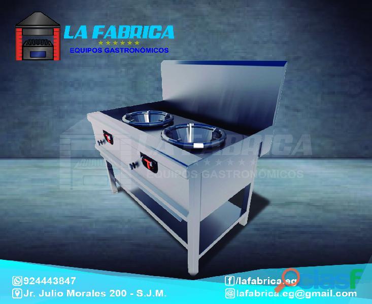 Cocinas industriales modelos para chifa de acero   la fábrica