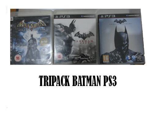 Juegos ps3 fisicos batman (tripack en oferta)