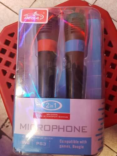 Microfono Usb 2en1 Compatible Con Ps3 + 3 Juegos Singstar