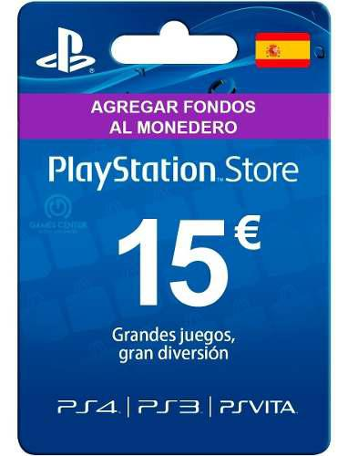 Tarjeta Playstation Psn Card 15 Euros España - Código