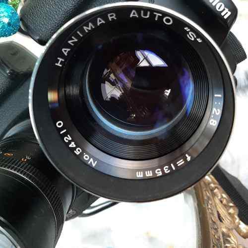 Lente Hanimar S 135mm F/2.8 Montura Rosca M42 / Canon Sony