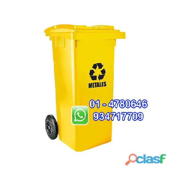 tachos de 120 litros ecologicos con ruedas