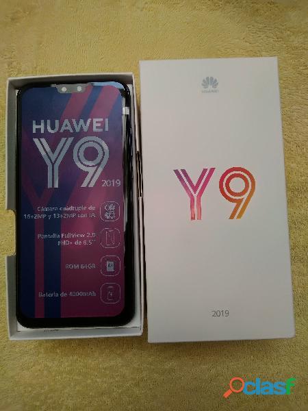 Vendo celular huawei y9 2019, 64 gb, cuatro cámaras, nuevo en caja sellada