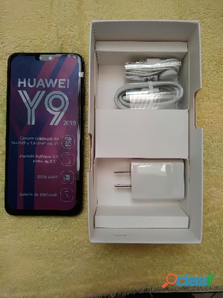 Vendo celular Huawei Y9 2019, 64 GB, cuatro cámaras, nuevo en caja sellada 2