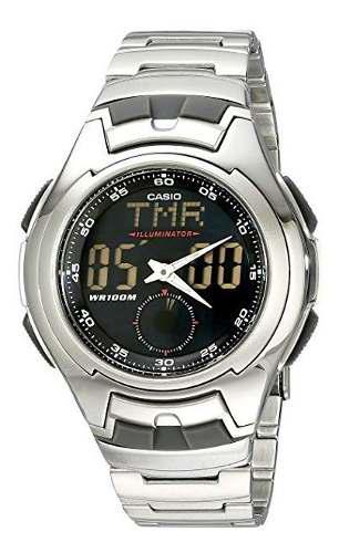 Casio Aq160wd-1bv Reloj Análogo Y Digital, Electro