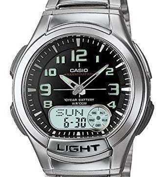 Casio De Los Hombres Aq180wd-1bv Ana-digi Luz Reloj