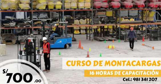 Curso de montacargas en Lima