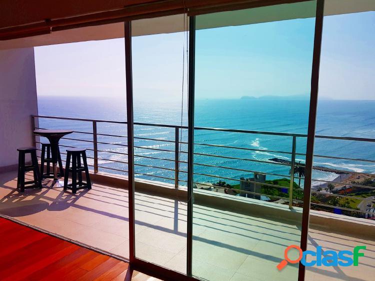 Alquiler de Departamento en Miraflores - Vista al Mar 3 Dormitorios Terraza Moderno 1
