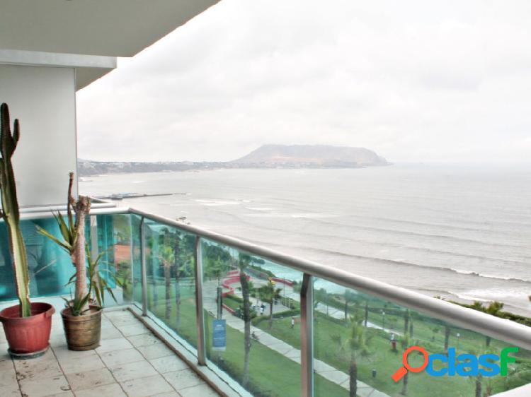 Departamento en alquiler en miraflores hermoso vista al mar 3 dormitorios terraza