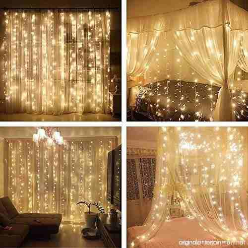 Luces led cortina 3x3 metros programable con 8 combinaciones
