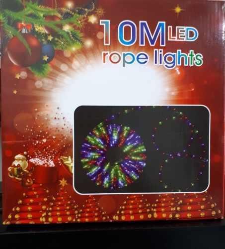 Luces led manguera tubo navidad 10 metros decoración