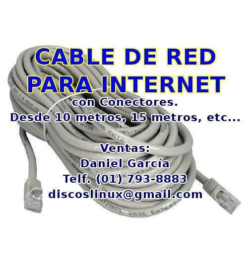 Cable de red para intenet utp cat5e para tu pc router ps4