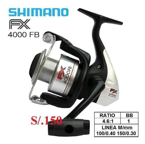 Carrete De Pesca Shimano Fx 4000fb Pescar Reel