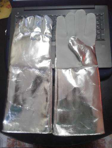 J seg guante rayón aluminizado 18 pulg costura hilo kevlar