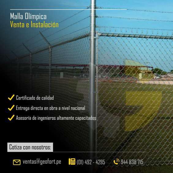 Malla olímpica venta e instalación a todo el perú