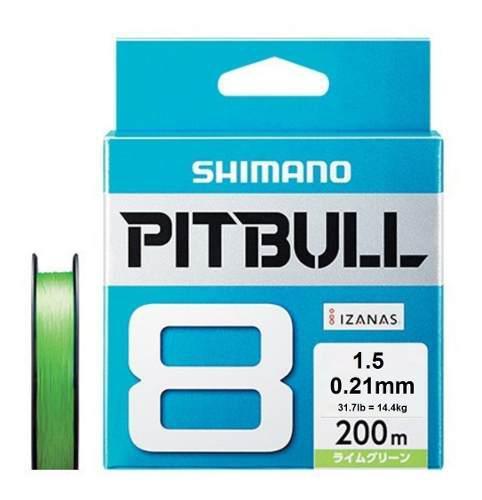 Multifilamento shimano pitbull 8 200mts x 0.21mm 14kg