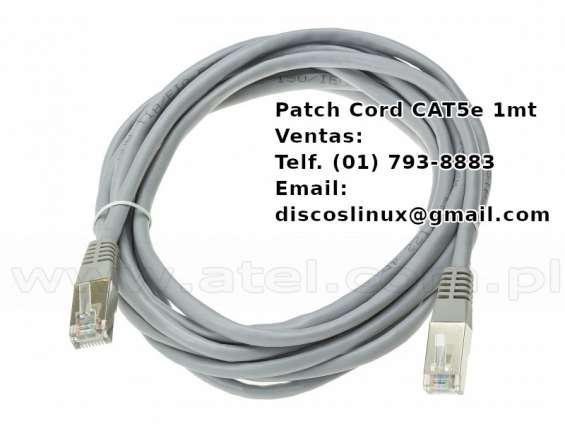 Patch cord cat5e t568b 4 pares cable nuevo, en los olivos en