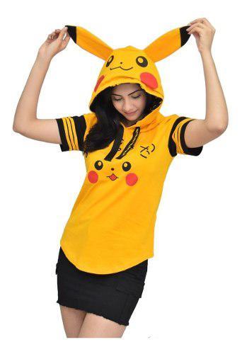 Polo capucha pikachu/pokemon