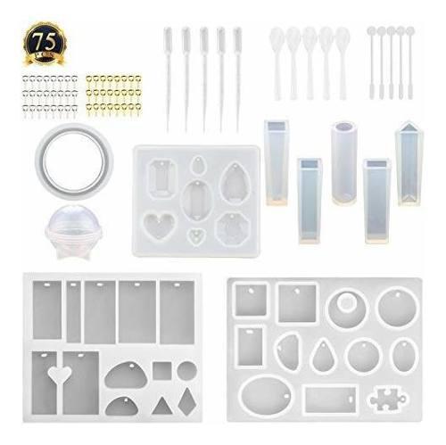 Subang 12 unidades de moldes de silicona para joyería