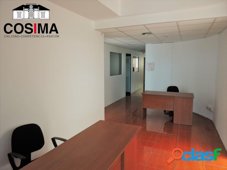 Alquiler de piso oficina en moderno edificio en barranco
