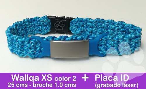 Collar wallqa talla xs + placa id (grabado láser)