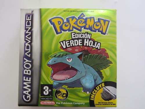 Pokemon Verde Hoja Español Completo Game Boy Advance
