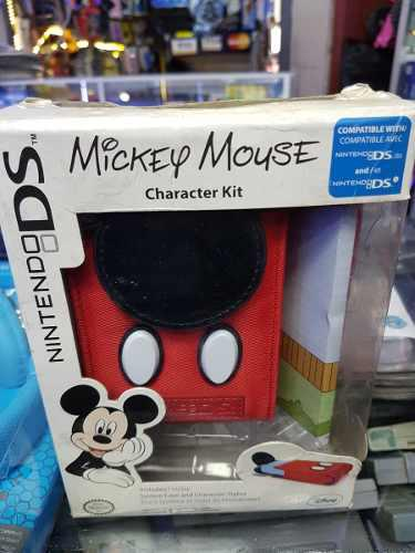 Kit estuche y stylus mickey mouse - nintendo dsi / ds lite