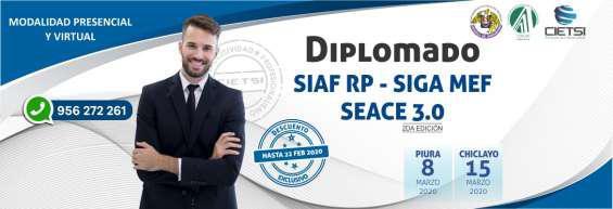 Diplomado de alta especialización siaf siga seace 2020