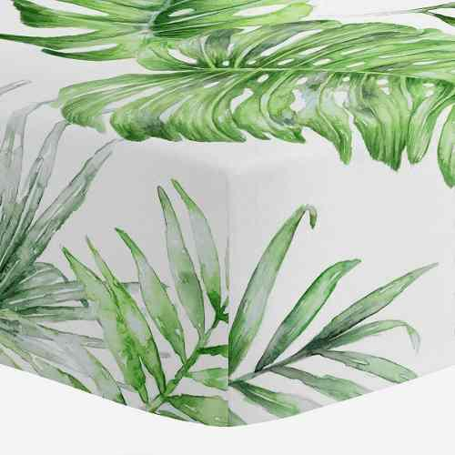 Carousel designs - sábana para cuna, diseño tropical pint