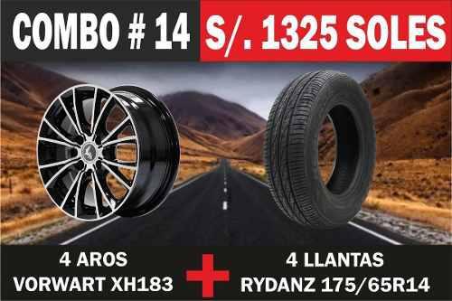 Combo De 4 Llantas 175/65r15 Con 4 Aros 15 Luxotik D2794