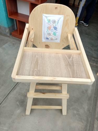 Sillas bebé madera pino (nuevo)