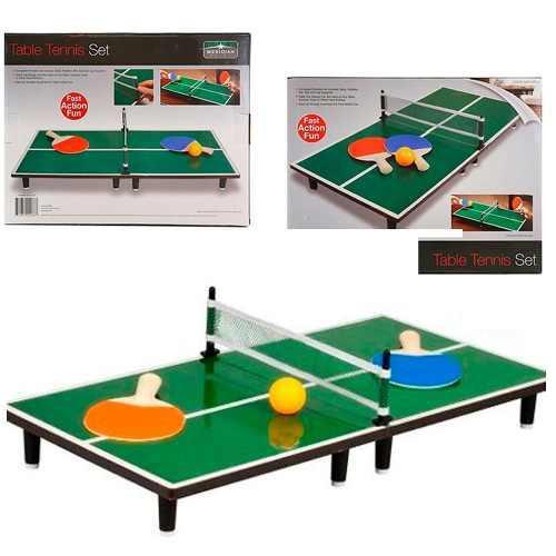 Juego de madera ping pong sobre mesa portatil