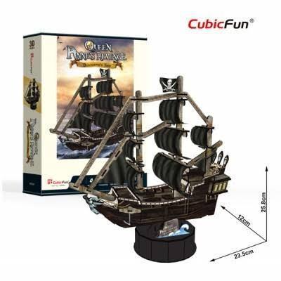 Rompecabezas 3d barcos. queen anne's revenge. cubic fun