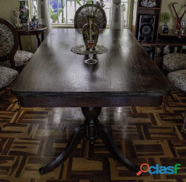 Mesa de comedor rectangular de Caoba 2