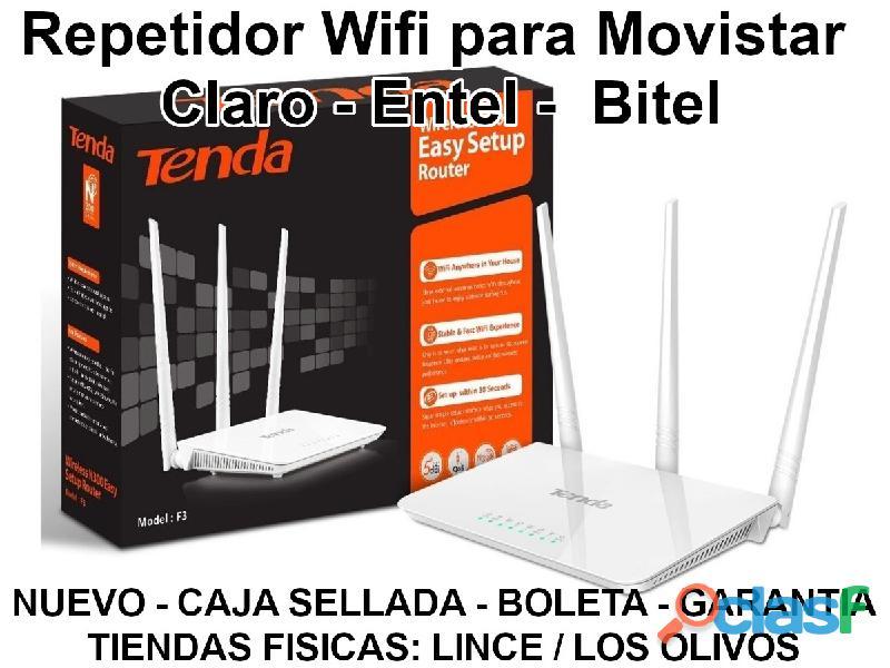 Nuevo Tenda Repetidor Wifi 300Mbs mayor cobertura sin cables