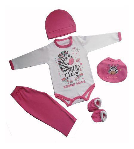 Ajuar de bebe niña cebra love ropa de bebe