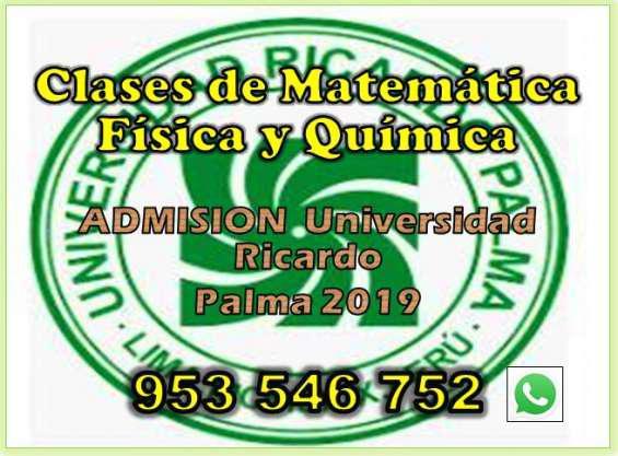 Clases de matemática y ciencias postulantes u.ricardo