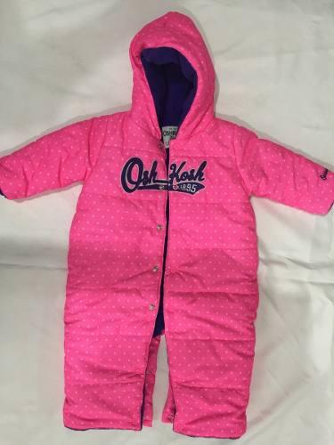 Enterizo abrigador marca oshkosh babygirl 6m nuevo-original