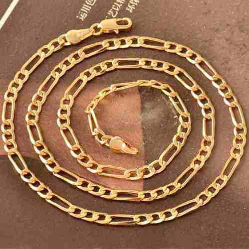 Cadena collar oro laminado amarillo de 18k mod cartier z50