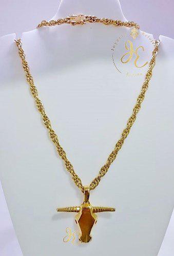 Cadena de oro amarillo ley 18k cordón cc_110 hombre